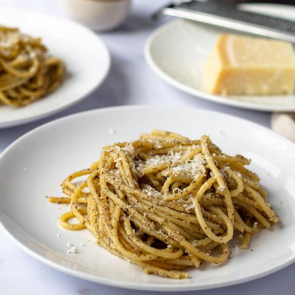Cacio e Pepe with parmesan