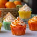 Citrus Cocktail Cupcakes in orange wrapper
