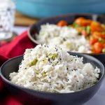 Coconut Basmati Rice with green onion