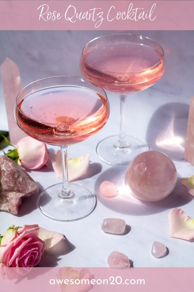 Rose Quartz Cocktail with text