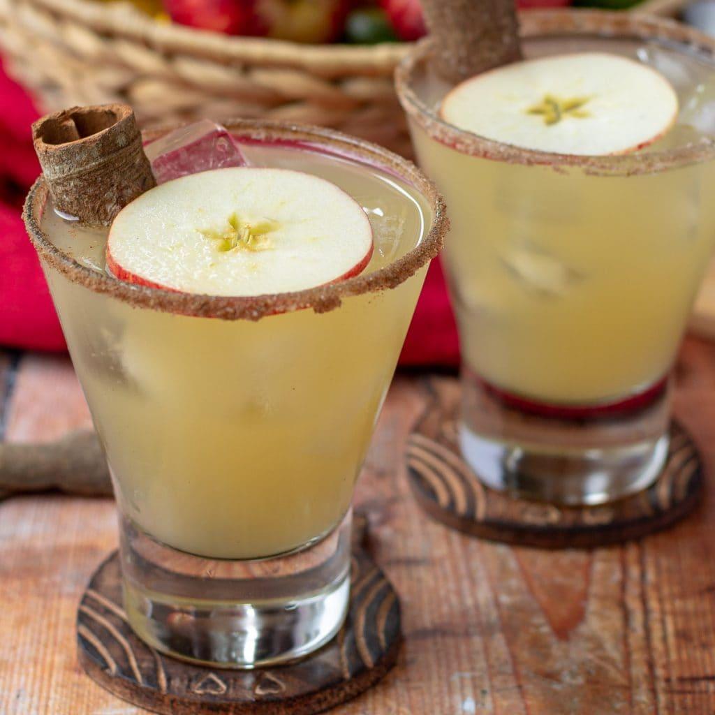 Apple Margarita with cinnamon