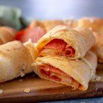Pepperoni Pizza Roll-Ups cut open