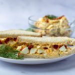 Bacon & Egg Salad Sandwich with dill