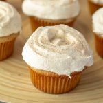 Snickerdoodle Cupcakes close up